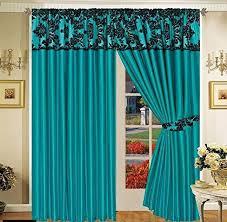teal black curtains royal damask curtains pencil pleat faux silk