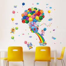 Aliexpresscom  Buy Rainbow Balloon Elephant Wallpaper For Kids - Kids rooms decals