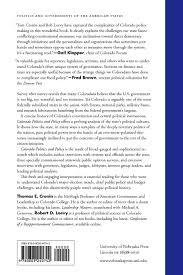 colorado politics and policy governing a purple state politics