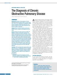 the diagnosis of chronic obstructive pulmonary disease 05 12 2014