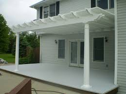 White Vinyl Pergola by White Vinyl Pergola Traditional Patio Indianapolis By Dhm