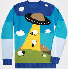 unique sweaters ufo sheep sweater