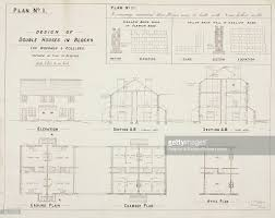 19th Century Floor Plans Design Of Double Houses In Blocks For Workmen U0026 Colliers 19th