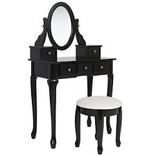 black makeup desk with drawers amazon com best choice products bathroom vanity table set makeup