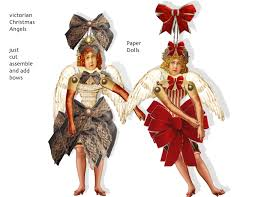 christmas victorian vintage paper doll angel ornaments diy