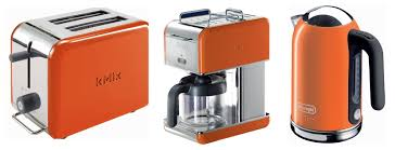vintage espresso maker kitchen appliances orange kitchen appliances colorful design