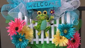 deco mesh wreath with dollar tree items for spring u0026 summer youtube