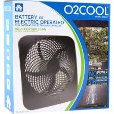 battery operated fans o2cool 10 battery or electric portable fan graphite walmart