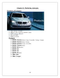 bmw marketing internship completed project on bmw