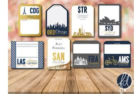 travel themed escort cards luggage tag escort cards destination