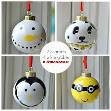sharpie ornaments easy diy ornaments for your tree