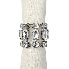 brilliant napkin rings clear set of 4 z gallerie