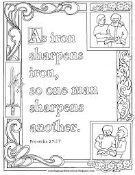 coloring pages for kids by mr adron proverbs 27 17 print and