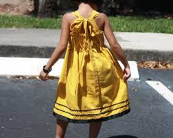 girls yellow dress etsy