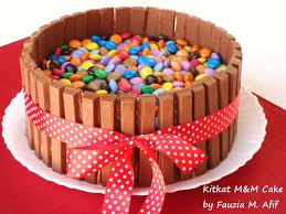kitkat m u0026m cake fauzia u0027s kitchen fun