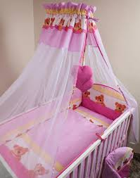 Cot Bed Canopy Chiffon Canopy Drape Mosquito Net Holder Fits Baby Nursery Cot
