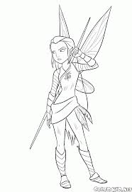coloring page warrior fairy