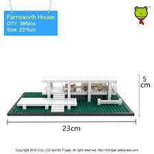 aliexpress com buy mr froger loz mini blocks farnsworth house