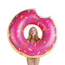 Pulling Off Pink Rims Eric The Ricer Amazon Com Bigmouth Inc Gigantic Donut Pool Float Strawberry