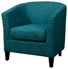 Teal Accent Chair Sheri Fabric Tub Chair Transitional Armchairs And Accent