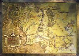map hobbit the lord of the rings the hobbit metallic map of middle earth