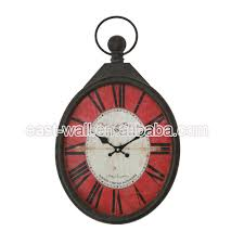 oem service met art wall clock imported from china special design