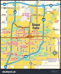 Sioux Falls Map Sioux Falls South Dakota Area Map Stock Vector 145981061
