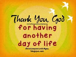 thank you god for another day of christian card