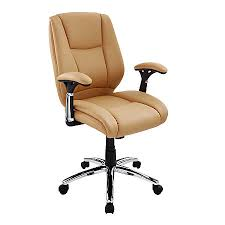 Tan Leather Office Chair Realspace Eaton Mid Back Bonded Leather Chair Tanblack By Office