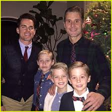 matt bomer shares adorable family photo with husband simon halls
