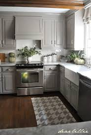 small kitchen grey cabinets dear lillie darker gray cabinets and our marble review