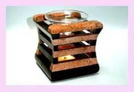 Wholesale Home Decor Distributors Home Decor Distributor Glass Oil Burner Set In Wooden Holder