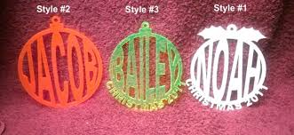 personalized laser cut acrylic ornaments