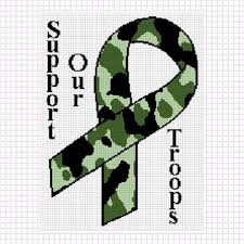 camouflage ribbon cozyconcepts camouflage ribbon support our troops crochet pattern