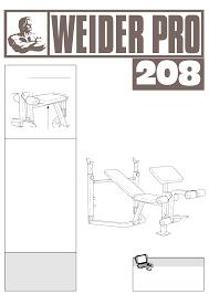 weider home gym pro 208 user guide manualsonline com