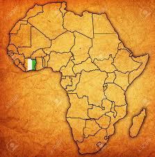 africa map ivory coast ivory coast on actual vintage political map of africa with flags