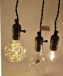 triple light bulb socket hession vintage triple light sockets pendant hanging light cord plug