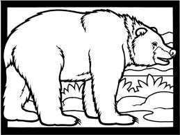 brown bear walking coloring free printable coloring pages
