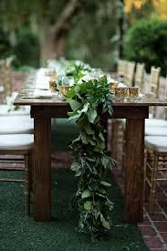 wedding reception table runners wedding reception dense greenery table runner kristen weaver