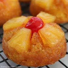 pineapple upside down cupcakes eating on a dime