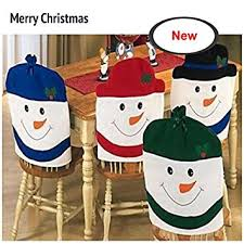 snowman chair covers lihao 4 pieces snowman chair back covers for christmas