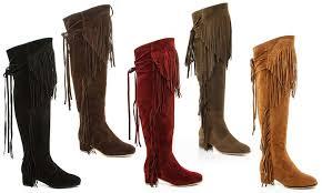 groupon s boots 54 on godiva s fringe boots groupon goods