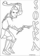 avatar airbender coloring pages coloringbook org