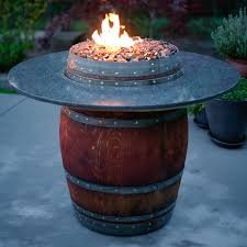 Diy Glass Fire Pit by The Grand Wine Barrel Fire Pit Table Fireglass Fire Pits Glass