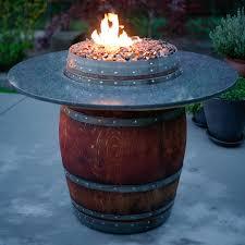 Fire Pit Rocks by The Grand Wine Barrel Fire Pit Table Fireglass Fire Pits Glass