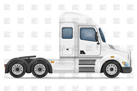 semi truck side view prime mover vector clipart image 100882