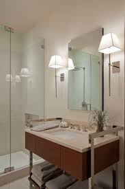 modern bathroom sconces making luminous and soothing atmosphere