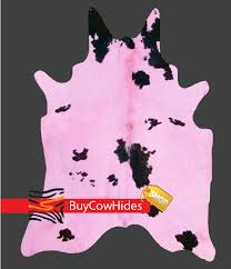 Pink And Black Rugs Brazilian Cowhide Rug Dyed Cappuccino Cowhide Rugs Buycowhides