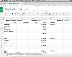 Track Expenses Spreadsheet Here U0027s A Simple Personal Expense Tracker Anyone Can Use Techcabal