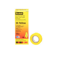 scotch vinyl colour coding electrical tape 35 yellow 7 mil